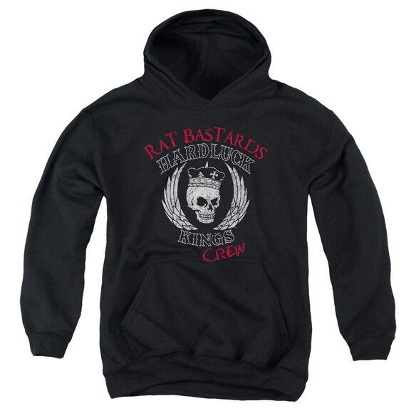 Hardluck Kings Rat Bastards Logo Youth Pull Over Hoodie
