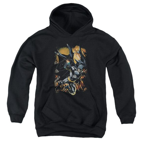 Batman Grapple Fire Youth Pull Over Hoodie