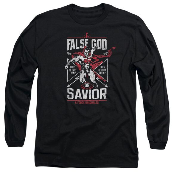 Batman V Superman False God Or Savior Long Sleeve Adult T-Shirt