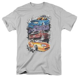 Fast And The Furious Smokin Street Cars Short Sleeve Adult T-Shirt