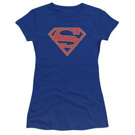 Supergirl Logo Premium Bella Junior Sheer Jersey Royal