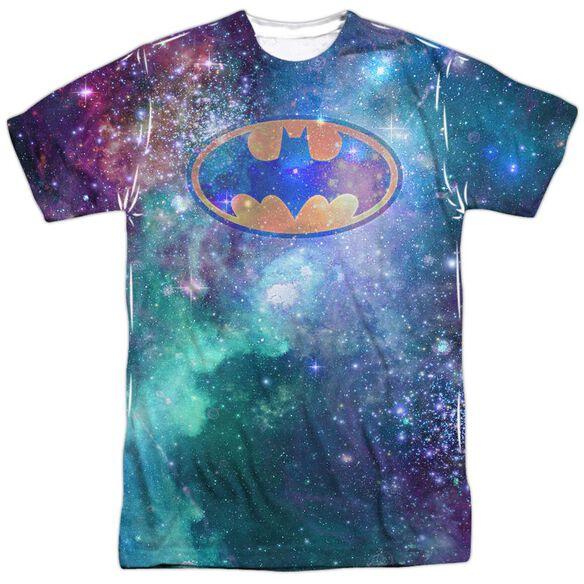 Batman Galaxy Symbol Short Sleeve Adult Poly Crew T-Shirt