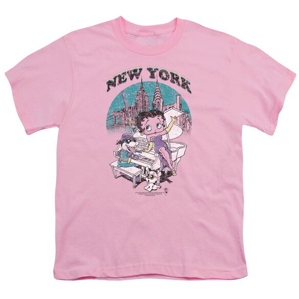 Betty Boop Singing In Ny Short Sleeve Youth T-Shirt