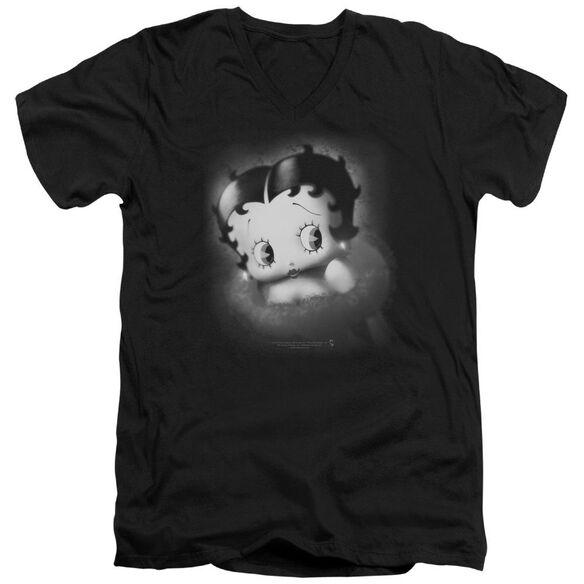 Betty Boop Vintage Star Short Sleeve Adult V Neck T-Shirt