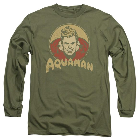 Dc Aqua Circle Long Sleeve Adult Military T-Shirt