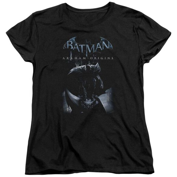 Batman Arkham Origins Perched Cat Short Sleeve Womens Tee T-Shirt