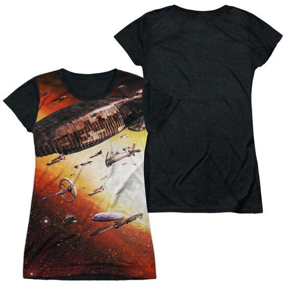Bsg (New) Fleet Of Humanity Short Sleeve Junior Poly Black Back T-Shirt