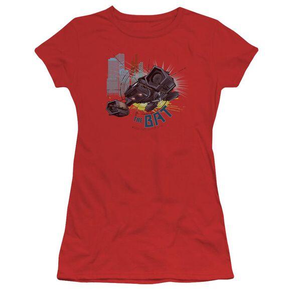 Dark Knight Rises The Bat Short Sleeve Junior Sheer T-Shirt