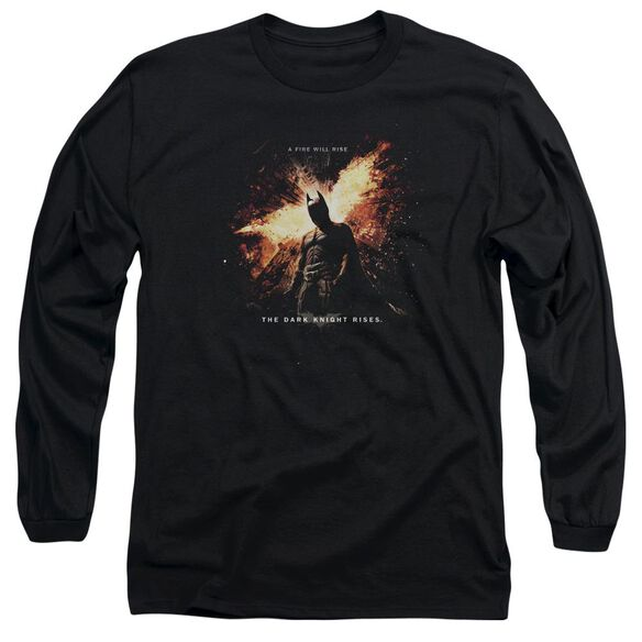 Dark Knight Rises Fire Will Rise Long Sleeve Adult T-Shirt
