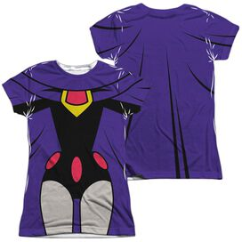 Teen Titans Go Raven Uniform (Front Back Print) Short Sleeve Junior Poly Crew T-Shirt