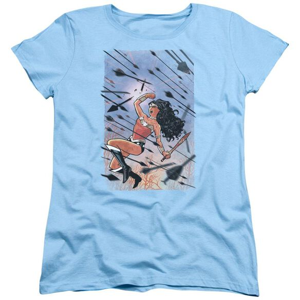 Jla Wonder Woman #1 Short Sleeve Womens Tee Light T-Shirt