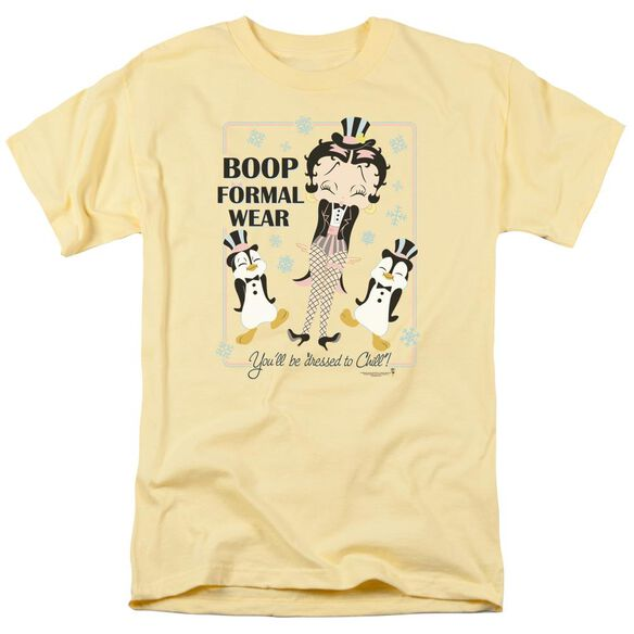Betty Boop Dressed To Chill Short Sleeve Adult Banana T-Shirt