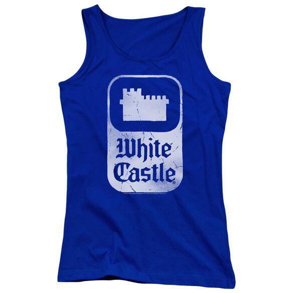 White Castle Classic Logo Juniors Tank Top Royal
