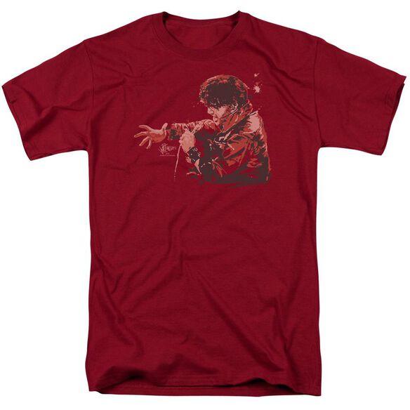 Elvis Red Comback Short Sleeve Adult Cardinal T-Shirt