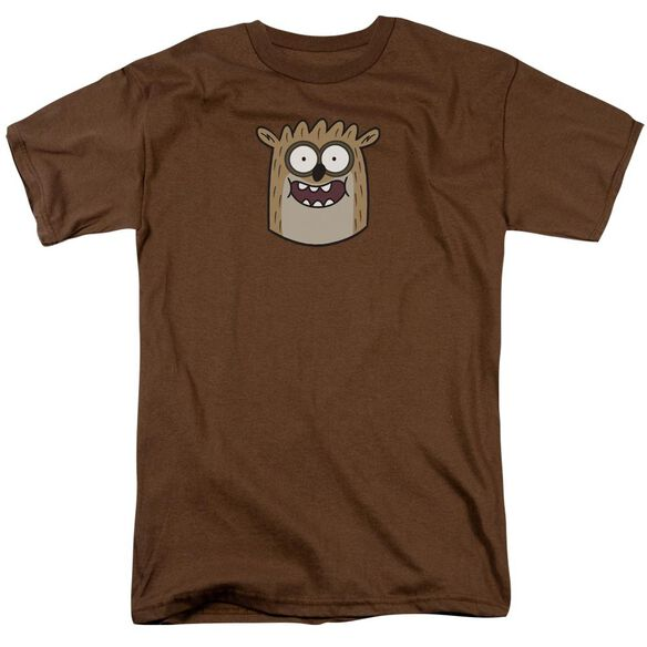 The Regular Show Rigby Short Sleeve Adult Coffee T-Shirt