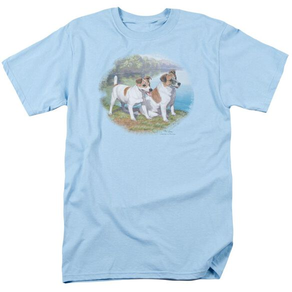 Wildlife Jack By Water Short Sleeve Adult Light Blue T-Shirt
