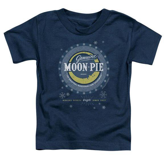 Moon Pie Snowing Moon Pies Short Sleeve Toddler Tee Navy T-Shirt