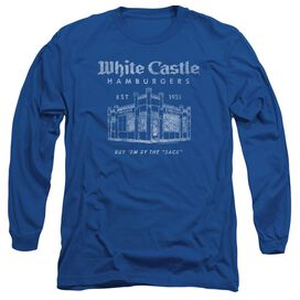 White Castle By The Sack Long Sleeve Adult Royal T-Shirt