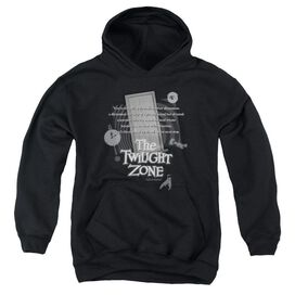 Twilight Zone Monologue-youth Pull-over Hoodie - Black