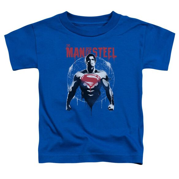 Batman V Superman Super Spray Short Sleeve Toddler Tee Royal Blue T-Shirt