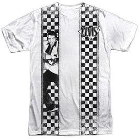 Elvis Checkered Bowling Shirt Short Sleeve Adult 100% Poly Crew T-Shirt