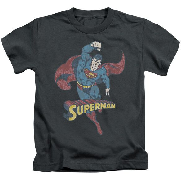 Dco Desaturated Superman Short Sleeve Juvenile Charcoal T-Shirt