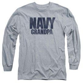 Navy Grandpa Long Sleeve Adult Athletic T-Shirt