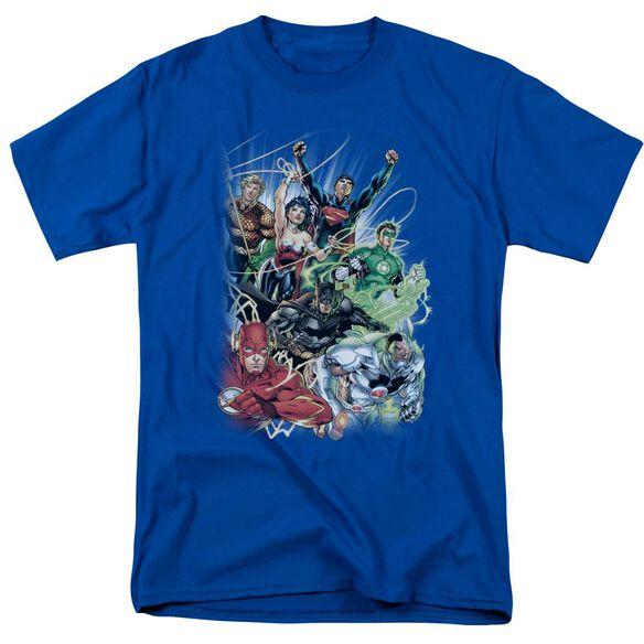 Jla Justice League #1 Short Sleeve Adult Royal T-Shirt