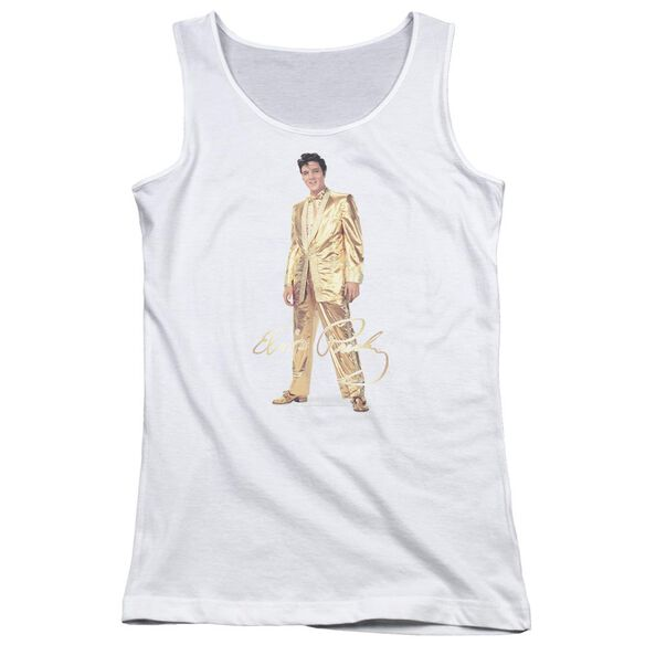 Elvis Presley Gold Lame Suit Juniors Tank Top