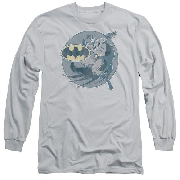 Dco Retro Batman Iron On Long Sleeve Adult T-Shirt