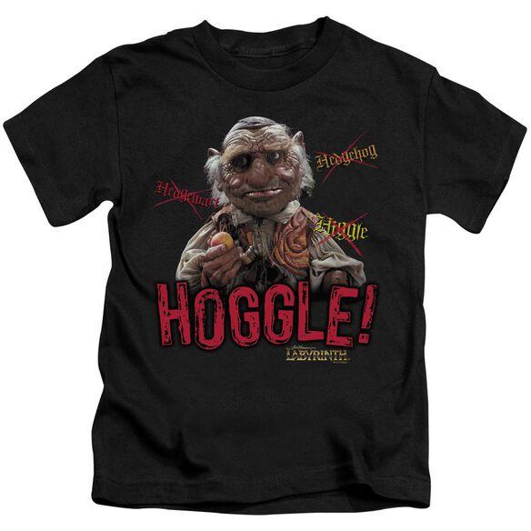 Labyrinth Hoggle Short Sleeve Juvenile Black T-Shirt