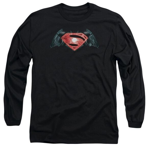 Batman V Superman Industrial Logo Long Sleeve Adult T-Shirt