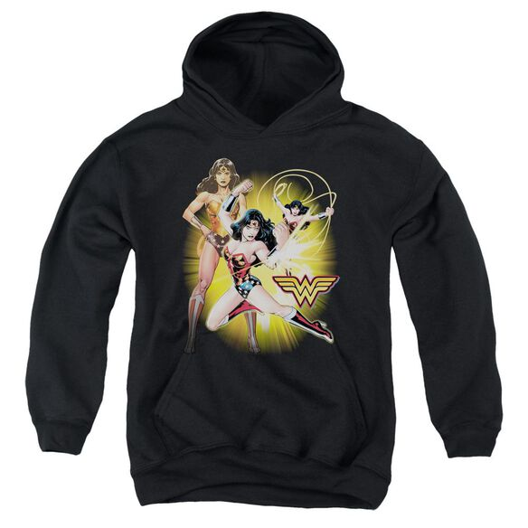 Jla Wonder Woman Youth Pull Over Hoodie