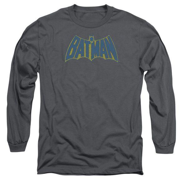 Batman Sketch Logo Long Sleeve Adult T-Shirt