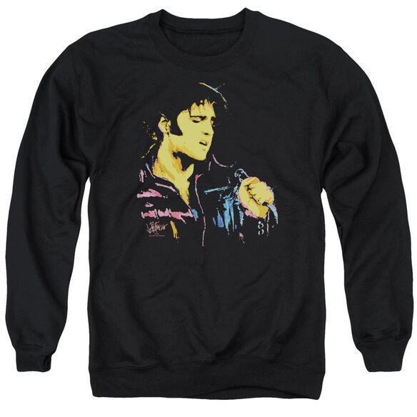 Elvis Neon Elvis Adult Crewneck Sweatshirt