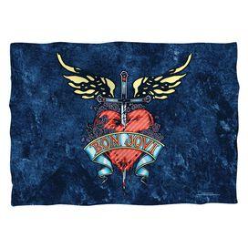 Bon Jovi Weathered Denim (Front Back Print) Pillow Case