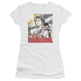 Rambo:First Blood They Drew Collage Short Sleeve Junior Sheer T-Shirt