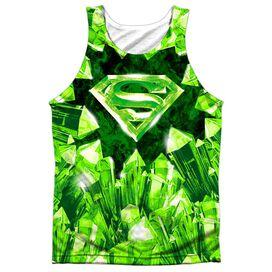 Superman Kryptonite Shield Adult 100% Poly Tank Top