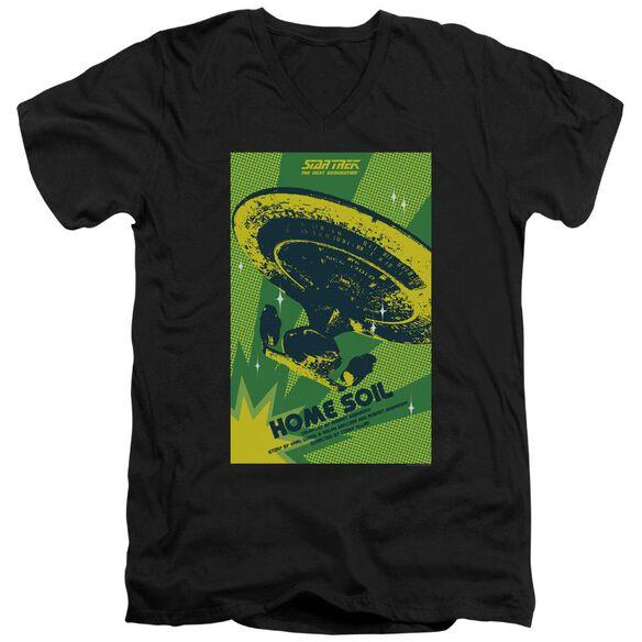 Star Trek Tng Season 1 Episode 18 Short Sleeve Adult V Neck T-Shirt