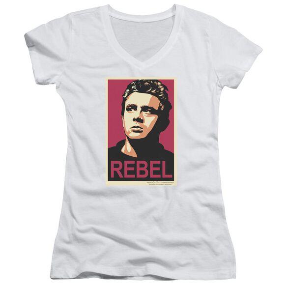 Dean Rebel Campaign Junior V Neck T-Shirt
