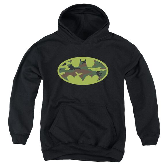 Batman Camo Logo Youth Pull Over Hoodie