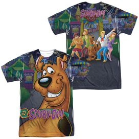 Scooby Doo Big Dog (Front Back Print) Short Sleeve Adult Poly Crew T-Shirt