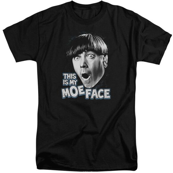 Three Stooges Moe Face Short Sleeve Adult Tall T-Shirt