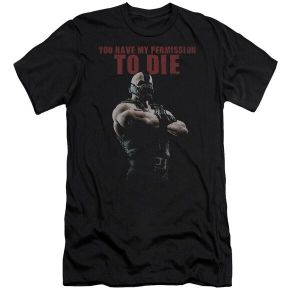 Dark Knight Rises Permission To Die Short Sleeve Adult T-Shirt