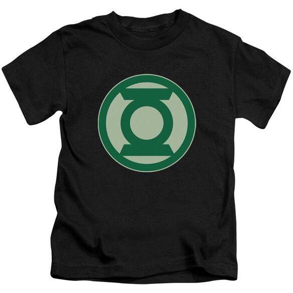 Green Lantern Green Symbol Short Sleeve Juvenile Black T-Shirt