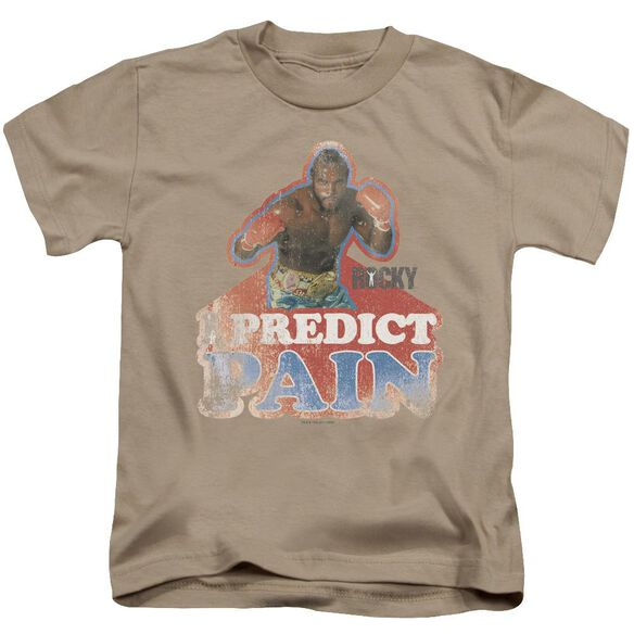 Rocky Iii I Predict Pain Short Sleeve Juvenile Sand Md T-Shirt