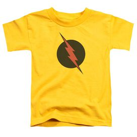 Jla Reverse Flash Short Sleeve Toddler Tee Yellow T-Shirt