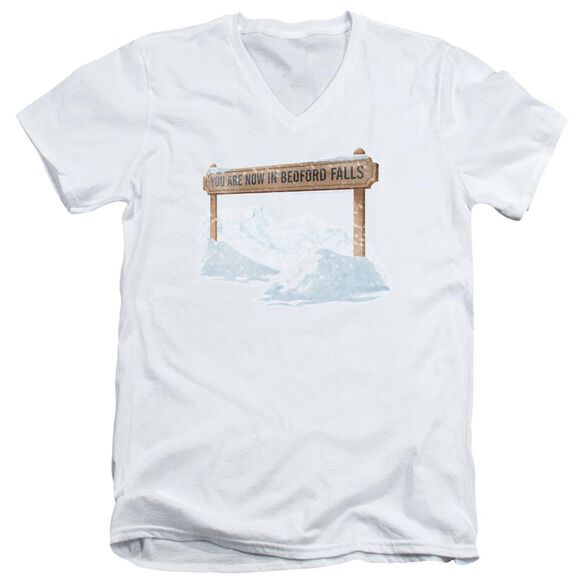 Its A Wonderful Life Bedford Falls Short Sleeve Adult V Neck T-Shirt