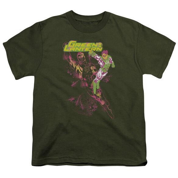 GL LANTERN SPRAY - S/S YOUTH 18/1 - MILITARY GREEN T-Shirt