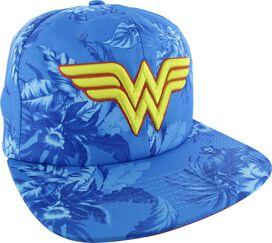 Wonder Woman Logo Floral Sublimated Buckle Hat